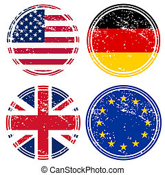 tampons, drapeaux