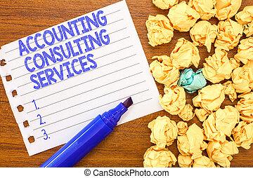 tanácsadó, anyagi, ügy, fénykép, kiállítás, services., írás, előkészítés, számvitel, szöveg, fogalmi, állítások, ofperiodic, kéz