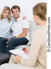 tanácsadó, párosít, anyagi, gyűlés
