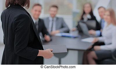 tanácskozás, beszélő, ügy