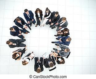 tanácskozás, képzés, fogalom, Ügy, Autóbusz, tervezés, tanulás