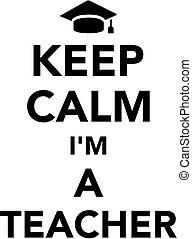 tanár, csendes, tart