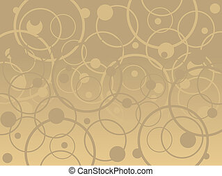 Tan Circles - Vector Background in tan and brown colors