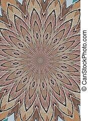 Tan colors in kaleidoscope pattern