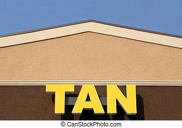 Front facade of a tanning salon
