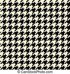 Tan Houndstooth Pattern - Black and tan colored seamless...