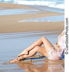 tan legs in sand - tan legs smeared in sand on a beautiful...