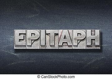 tana, epitaffio, parola