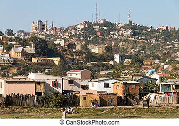 Cityscape of Antananarivo, Madagascar, in September 2013