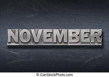 tana, parola, novembre