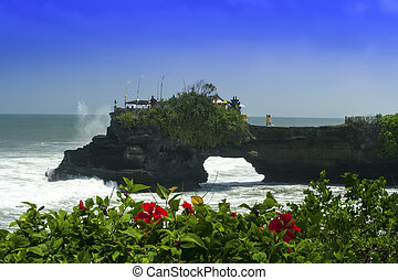Tanah Lot and Hibiscus.