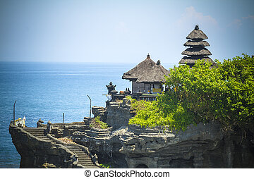 The Tanah Lot Temple, the Most Important Indu Temple of Bali Island. Indonesia.