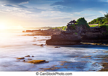 Tanah Lot Temple in Bali Island, Indonesia.