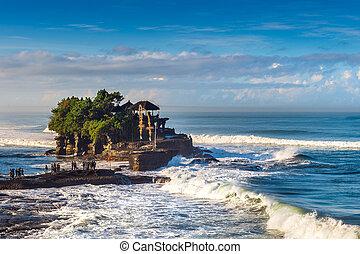 Tanah Lot Temple in Bali Island Indonesia.