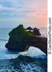 Tanah Lot Temple in island Bali