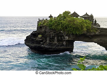 The temple of Tanah Lot in Bali, indonesia