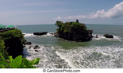 Tanah Lot water temple in Bali island