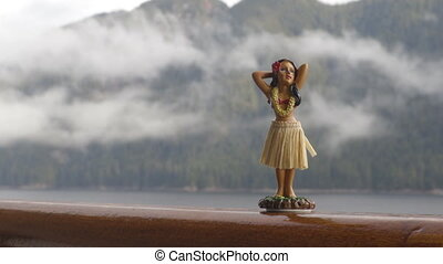 tancerz, alaska, rejs, dziewczyna, statek, podróż, pokład,...