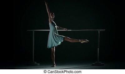 tancerz, balet, ablue, tutu, chodząc, młody