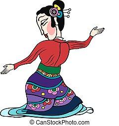tancerz, dama, chińczyk