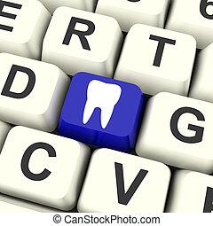 tand, nøgle, betyder, dental appointment, eller, tænder
