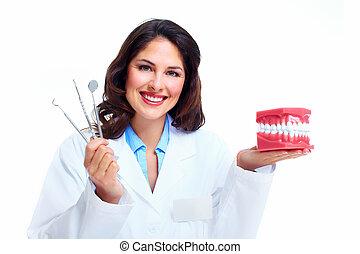 tandarts, woman.