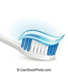 tandborste, tandkräm, gel