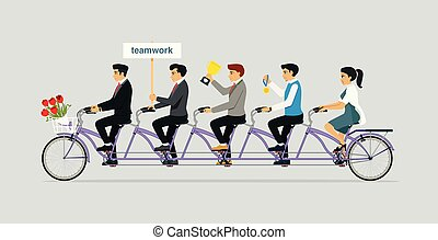 tandem bicikli, lovagol