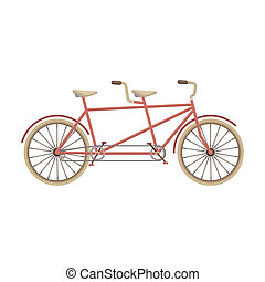 Tandem bike. Pleasure bicycle for two. Double bicycle. The ...