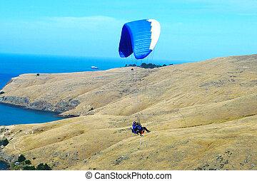 tandem, paragliding