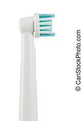 tandenborstel, close-up, elektrisch, white., vrijstaand