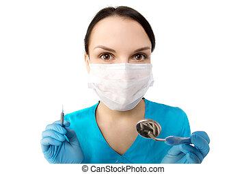 tandläkare, redskapen