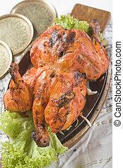 tandoori, indianin, murghi, jadło