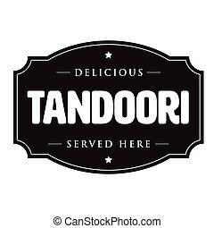Tandoori vintage sign stamp