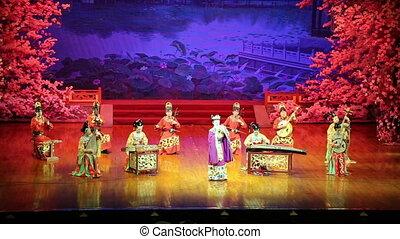 Tang Dynasty show at the Xian - XIAN, CHINA-OCTOBER, 14...