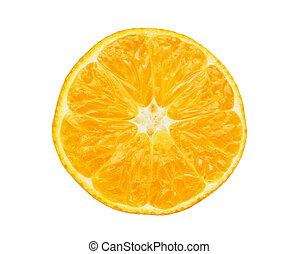 tangerine cut in half