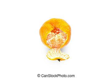 tangerine fruit isolated on white background
