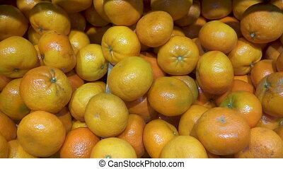 tangerine fruit panoramic view. FHD Video
