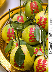 Tangerine in Chinese wedding ceremony