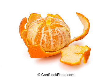 tangerine isolated