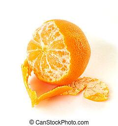 Tangerine isolated on white background