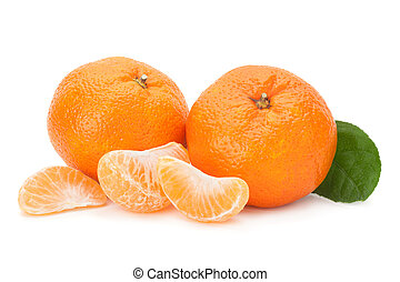 Tangerine on white