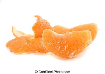 tangerine - peeled tangerine