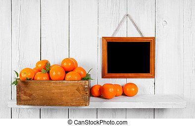 Tangerines in a box