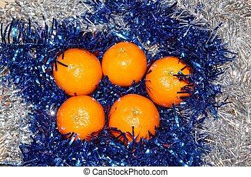 Tangerines in decorations
