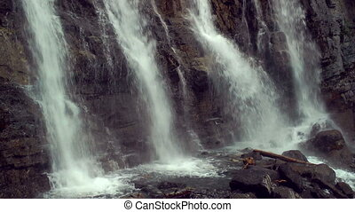 Tangle Creek Fall - Waterfall in Jasper National Park,...