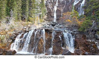 Tangle Falls Jasper National Park - Scenic view of Tangle...