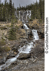 Tangle Waterfall Alberta Canada
