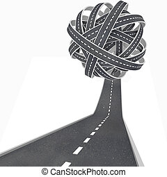 Tangled Ball of Roads - Congestion and Confusion in Travel...