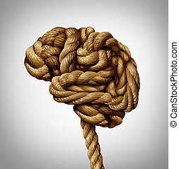 Tangled Brain - Tangled brain mental health concept as a...